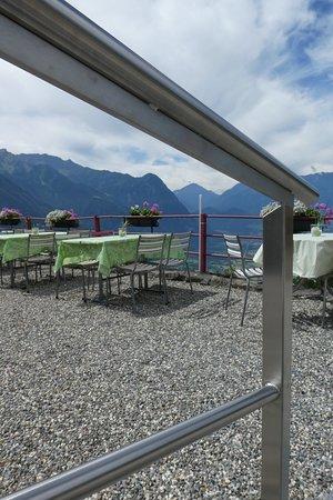 Triesenberg, Liechtenstein: The lower terrasse and backdrop