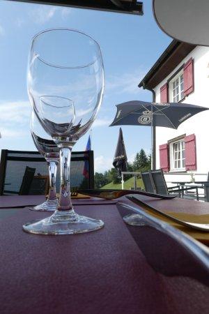 Triesenberg, Liechtenstein: Scenery through the glas bowl.