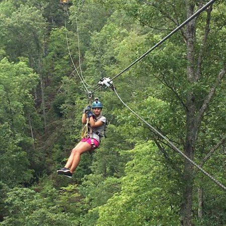 Ziplining - Picture of Smoky Mountain Ziplines, Pigeon ...