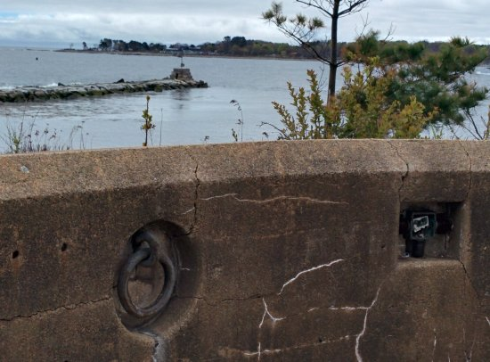 Fort Stark State Historic Site: View of Little Harbor, Odiorne's Point and the breakwater.