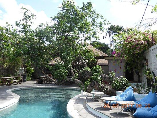 Villa Kresna Boutique Villas: Pool area by the Straw Hut