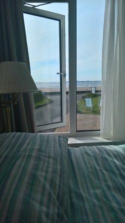 Broad Haven, UK: Ausblick aus dem Bett