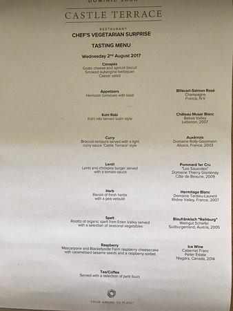 Picture of castle terrace restaurant for Terrace restaurant menu