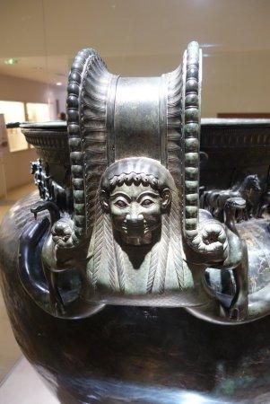 Chatillon-sur-Seine, France: Detail on vase handles
