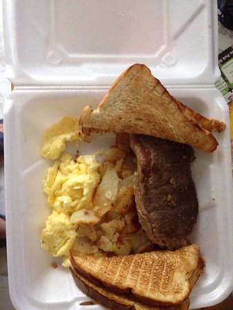 Mulberry, FL: Steak and eggs platter