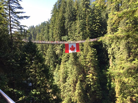 North Vancouver, Canada: The Suspension Bridge.