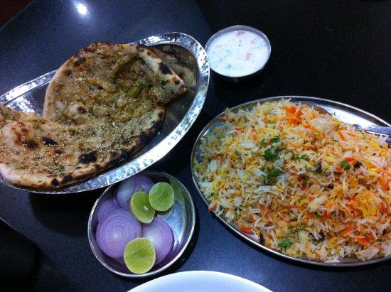 Hotel Plantain Leaf Restaurant: biryani et masala kulcha