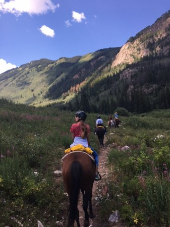 Snowmass Creek Outfitters: We emerged from the forest to this magnificent view!