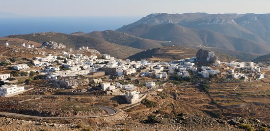 Chora Amorgos - view from a road to Aegiali