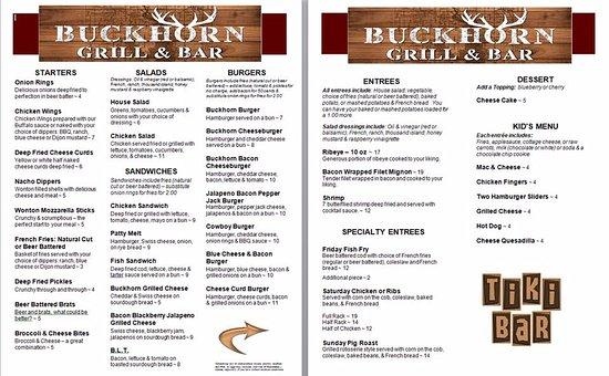 Necedah, WI: Our current menu