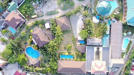 Alona Golden Palm Resort: Bird View of Golden Palm resort