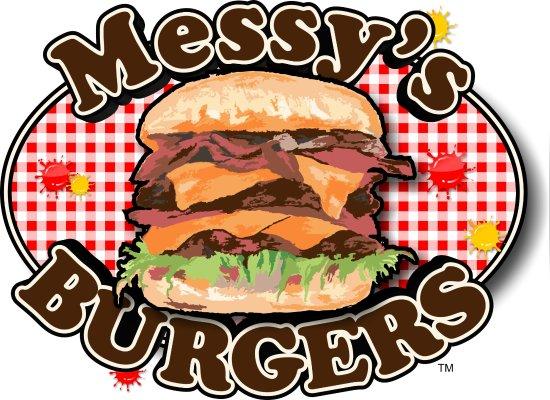 Spirit Lake, ID: Messy's Burger Logo