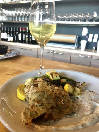 The Nomad Cafe: New item added is delicious.  Potato Pancake wrapped Haddock with Local seasonal Vegetables.