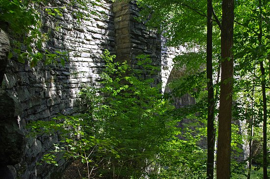 Chester, MA : One of the historic keystone arch railroad bridges at the Keystone Arches Trail.