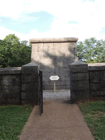 Murfreesboro, TN: Hazen Brigade Monument from the path to the parking lot