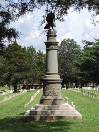 Murfreesboro, TN: Monument towards the center of the cemetery