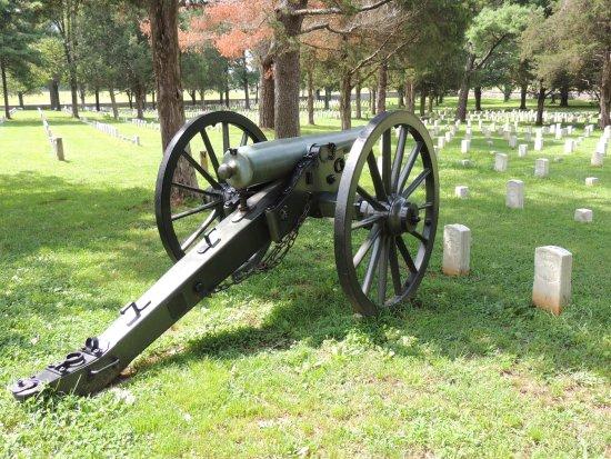 Murfreesboro, TN: Cannon in cemetery