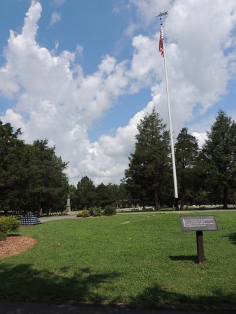 Murfreesboro, TN: Middle of the cemetery (notice the plaque with Bivouac of the Dead in foreground)