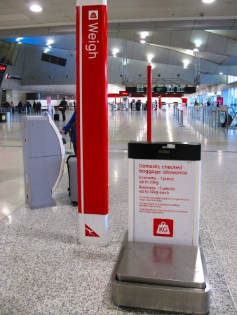 MEL Airport - Main terminal baggage scales - Picture of