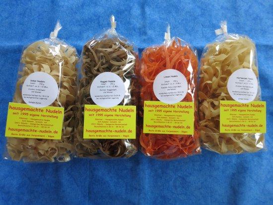 Ribnitz-Damgarten, ألمانيا: Pasta aus rote Linsen Nudeln, Roggen Nudeln & Süßlupinen Nudeln