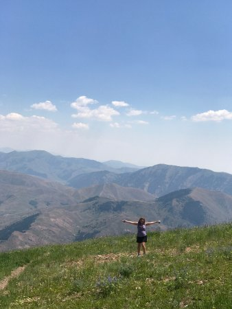 Sun Valley, ID: View from our hike down on Baldy