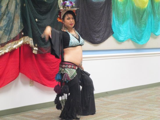 East Providence, RI: One of the Belly Dancers performing at Weaver Library.
