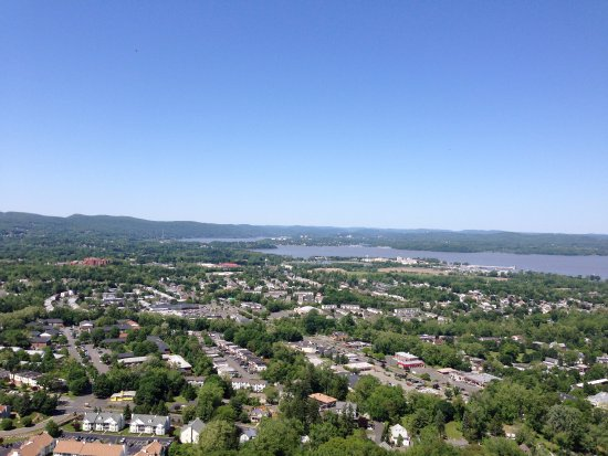 Haverstraw and West Haverstraw from High Tor.