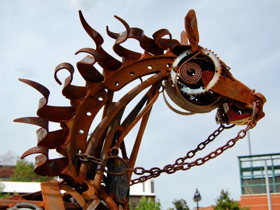Peoria, IL: Just a few of Sculpture Walk 2017-2018