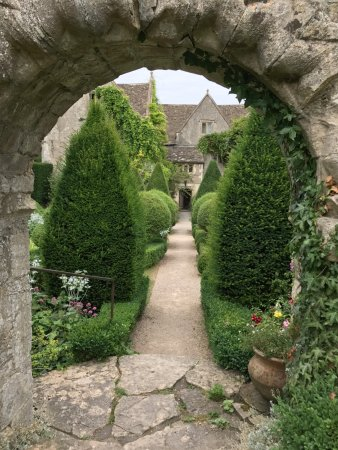 Abbey House Gardens Gothic Archway With A Long View From The Upper Lawn Through