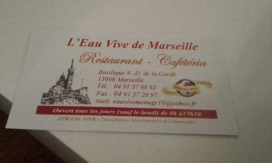 Restaurant Eau Vive Marseille