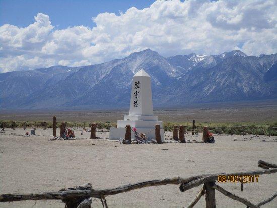 Independence, CA: Manzanar Cemetery Monument built in 1943. Designed by Ryozo Kado.