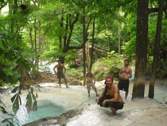 Kanchanaburi Province, Thailand: Erawan falls on the locals tours.