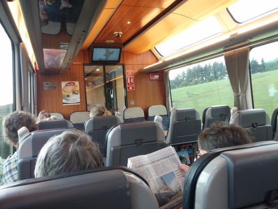 Northern Explorer Train: Inside the carriage