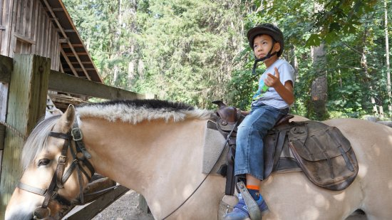 Stehekin, WA: my 8-yr-old son on Allie