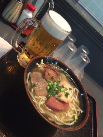 沖縄そばと生ビール