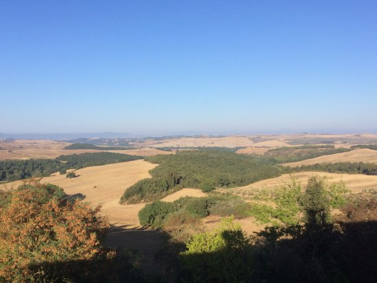 Trequanda, Italië: View from the room Carmera del Granduca
