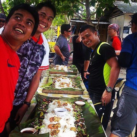 "‪‪Bohol Fun Tours‬: A local ""bodol fight"" after a mountain bike ride: good friends, good food, good times.‬"