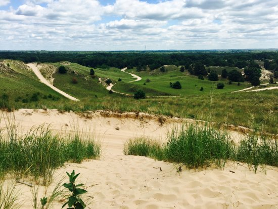 Saugatuck, MI: Dune ride trail.