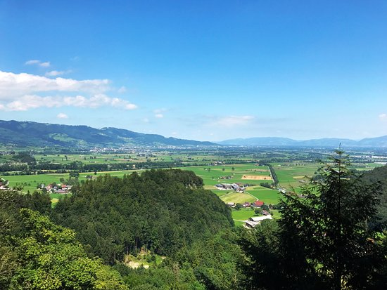 Oberriet, Schweiz: View from the waiting zone of the cave