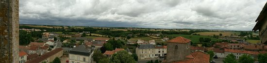 Bazoges-en-Pareds, France : Views from the top