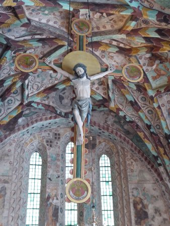 Enkoping, Sweden: A crucifix from 13th century!