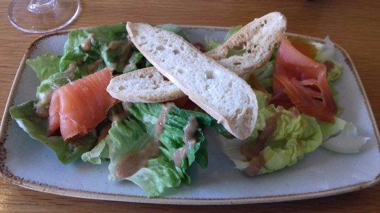 Portballintrae, UK: Salmon starter