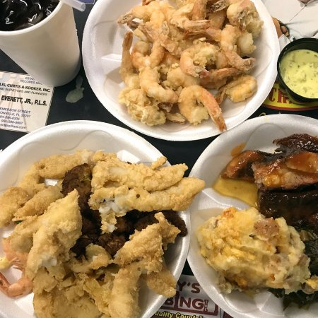 Southern Charm: Shrimp plate is for the table to share. The bottom two plates are one meal.