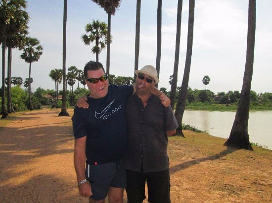 Kampong Thom, Cambodja: Moi et Rico..loll..que de plaisir..Merci.xxx