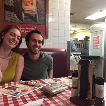 Worthington, OH: the grad and her honey in the kitchen