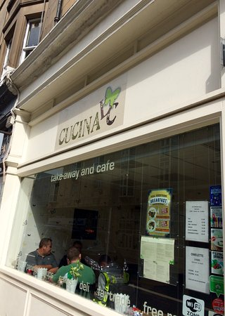 Outside Of Cafe Picture Of Cucina Lc Edinburgh Tripadvisor