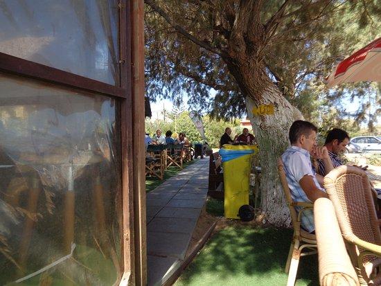 Daratsos, Griekenland: Här kan vi sitta i skuggan, länge!