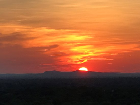 Marble Falls, TX: Sunset from our balcony