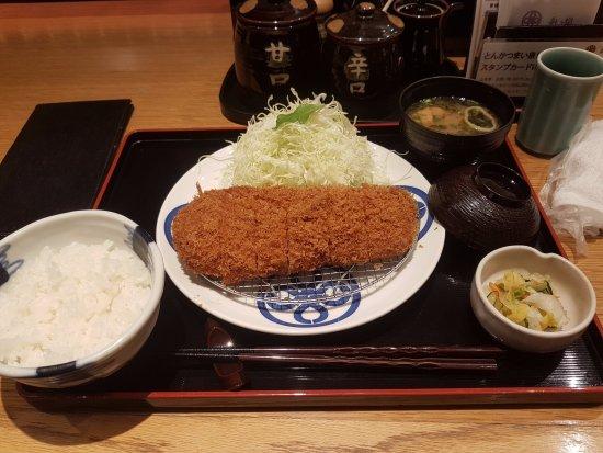 Tonkatsu Maisen Daimaru Tokyo 12F : 炸豬排套餐