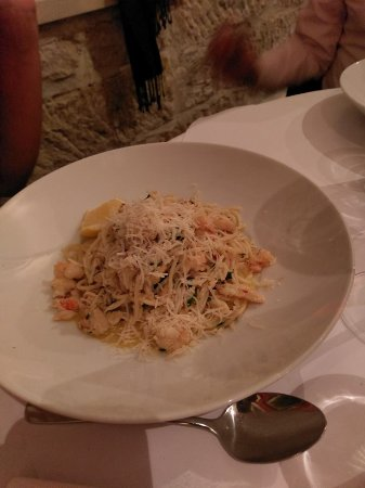 The Lord Nelson Brewery Hotel: shrimp pasta
